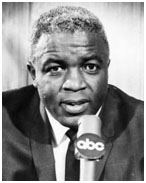 Jackie Robinson as an analyst for ABC
