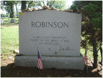 Jackie Robinson buried at Cypress Hills Cemetery