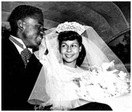 Jackie Robinson on his wedding day