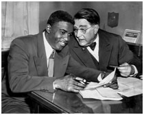 Jackie Robinsonwith Branch Rickey