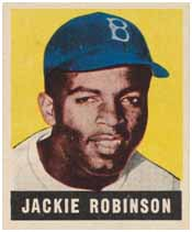 Jackie Robinsonwith rookie baseball card