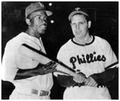 Jackie Robinson with with Ben Chapman