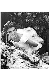 Jacqueline Kennedy Onassis wedding day with John F. Kennedy