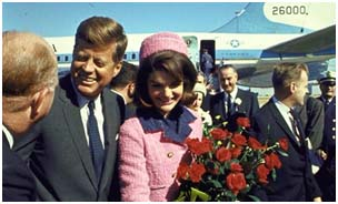 Jacqueline Kennedy Onassis with JFK