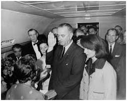 LBJ getting sworn in