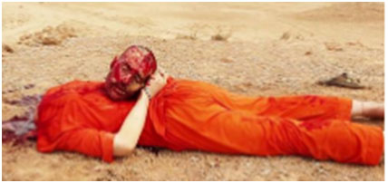 James Foley's decapitated head
