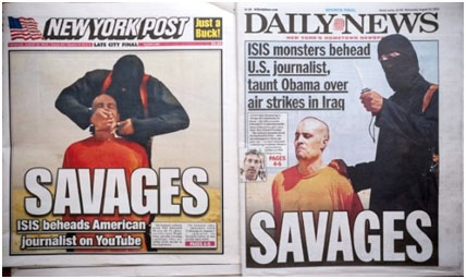 James Foley on the cover of the ny post right before his decapitation