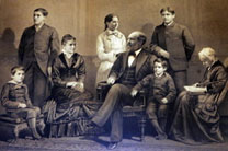 James Garfield with his wife and children