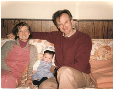 James Rebhorn with his family