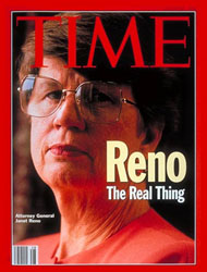 Janet Reno on cover of TIME Magazine