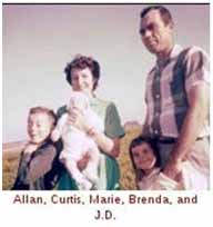 J.D. Tippit with wife and kids