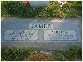 Jesse and his wife - grave site