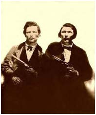 Jesse James with brother, Frank