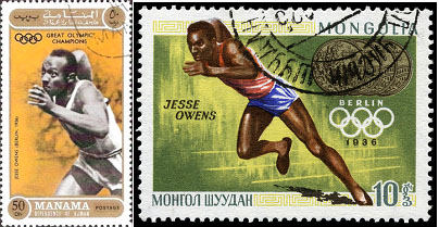 Jesse Owens foreign postage stamps