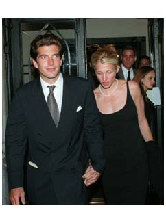 John F. Kennedy, Jr with Carolyn Bessette