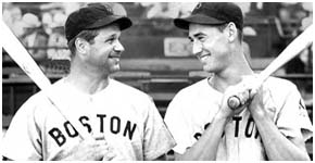 Jimmy Foxx with Ted Williams