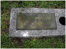 Jimmy Foxx Grave at Flagler Memorial Park in Miami