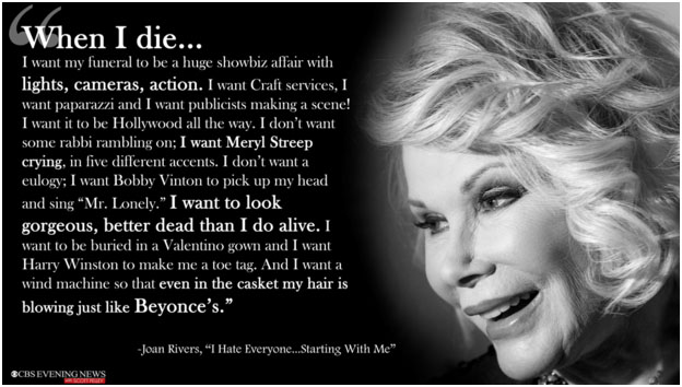 Joan Rivers funeral wishes