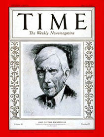 John D. Rockefeller on cover of TIME Magazine