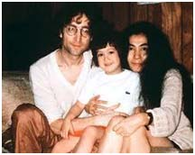 John Lennon with wife, Yoko Ono and Son, Sean