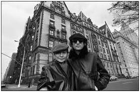 John Lennon in front of Dakota Apartments, NYC