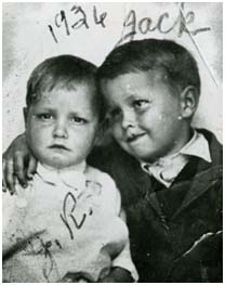 Johnny Cash with his brother, Jack Cash