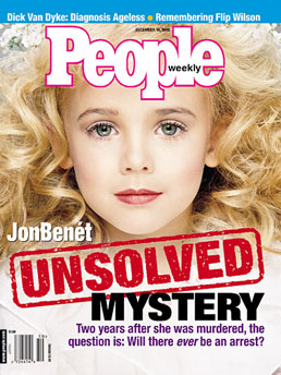 jonBenet Ramsey, People Magazine