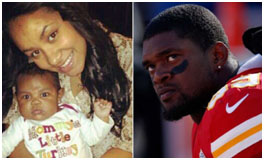 Jovan Belcher with Kasandra Perkins and their daughter