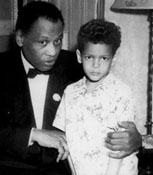 Julian Bond with Paul Robeson, 1940's