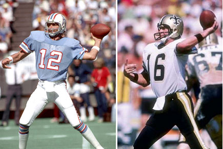 Ken Stabler playing for Oilers and Saints