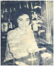 Kitty Genovese working in bar