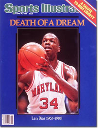Len Bias on cover of Sports Illustrated