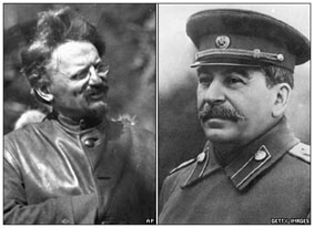 Leon Trotsky and Stalin