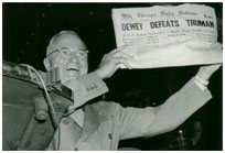 erroneous newspaper headline stating Dewey won the 1948 presidential election