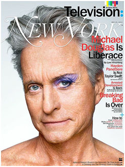Cover of New York Magazine with Michael Douglas on the covering playing Liberace