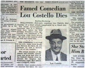 lou costello memorial park