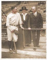 Lou Gehrig and his parents