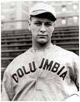Lou Gehrig wearing Columbia University baseball uniform