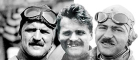Louis Chevrolet with his 2 brothers