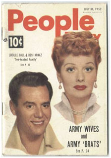 Lucille Ball and Desi Arnaz on the cover of People Magazine