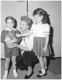 Lucille Ball with her 2 kids