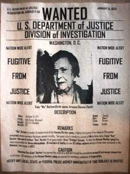 Ma Barker wanted poster