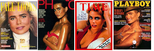 Margaux hemingway on cover of various magazines