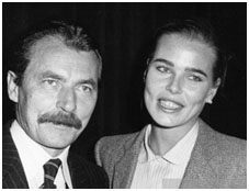 Margaux hemingway with Bernard Foucher