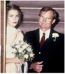 Margaux hemingway with her father