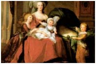 painting of Marie Antoinette and her children