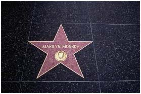 Marilyn Monroe star on walk of fame