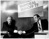 Mario Cuomo running for Mayor in 1977