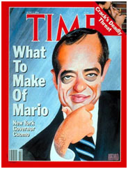 Mario Cuomo on cover of Time Magazine