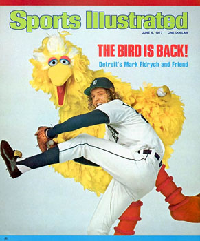 Mark Fidrych on cover of Sports Illustrated